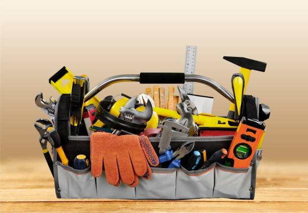 tools. - tool belt stock photos and pictures