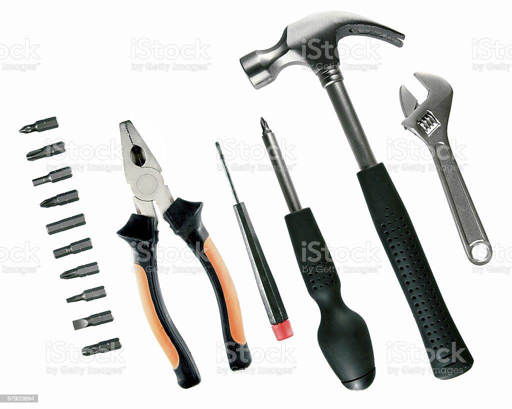 Tools selection royalty-free stock photo