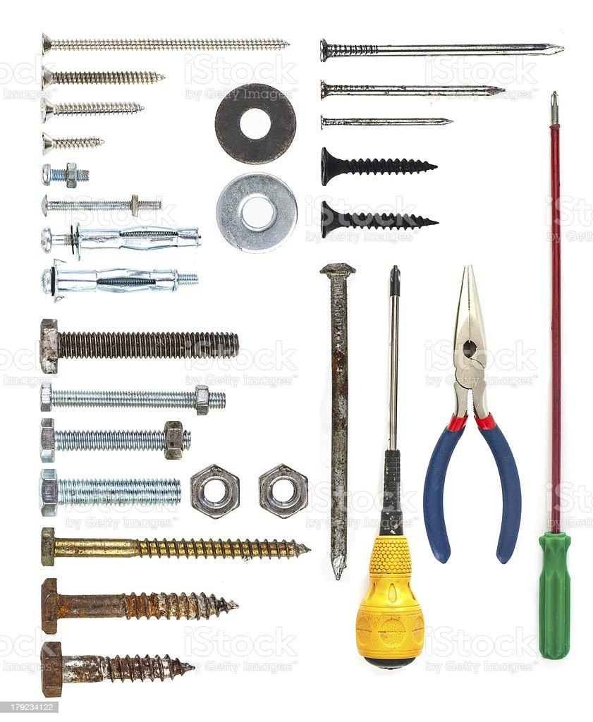 Tools Set royalty-free stock photo
