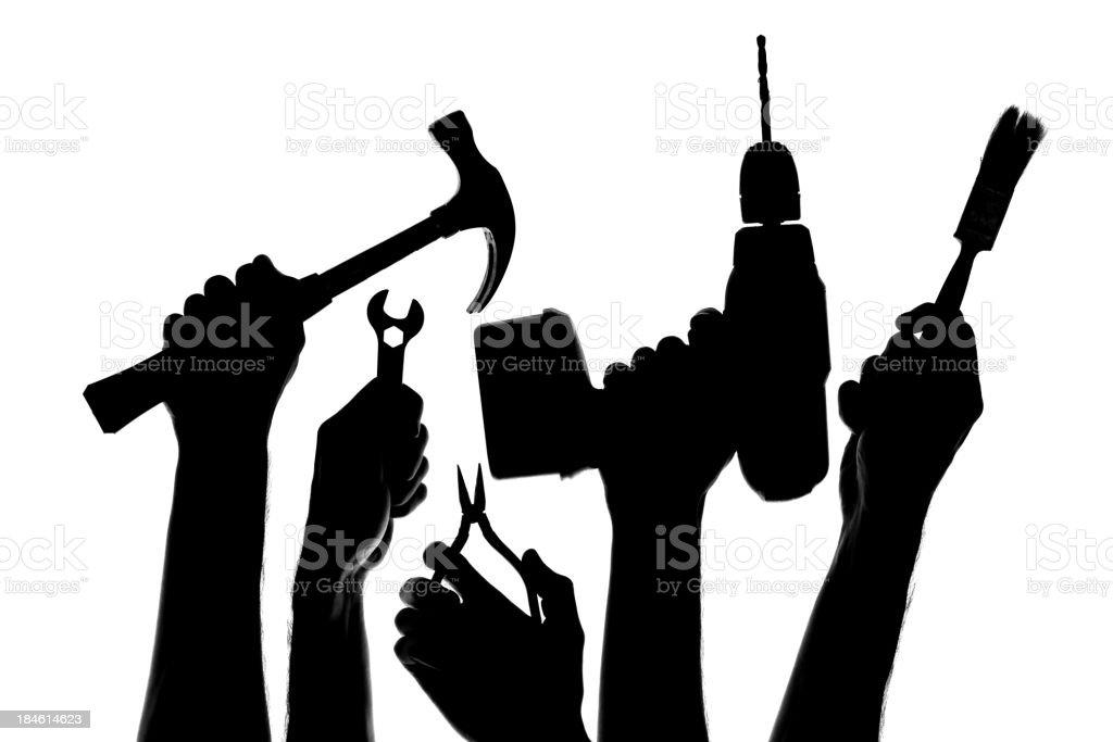 Tools silhouette stock photo