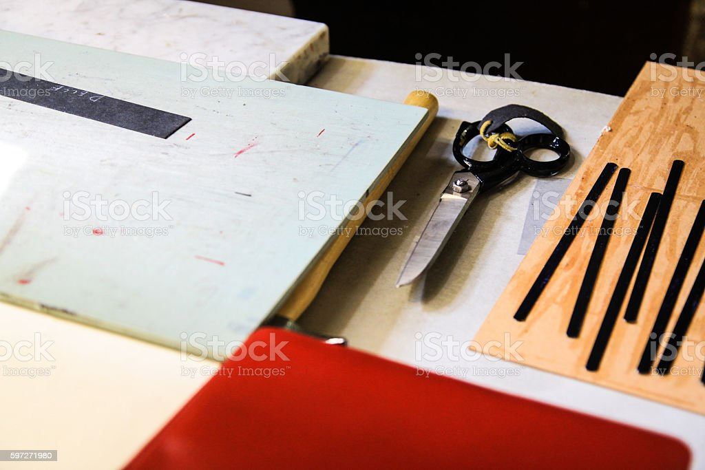 tools to work the leather Lizenzfreies stock-foto