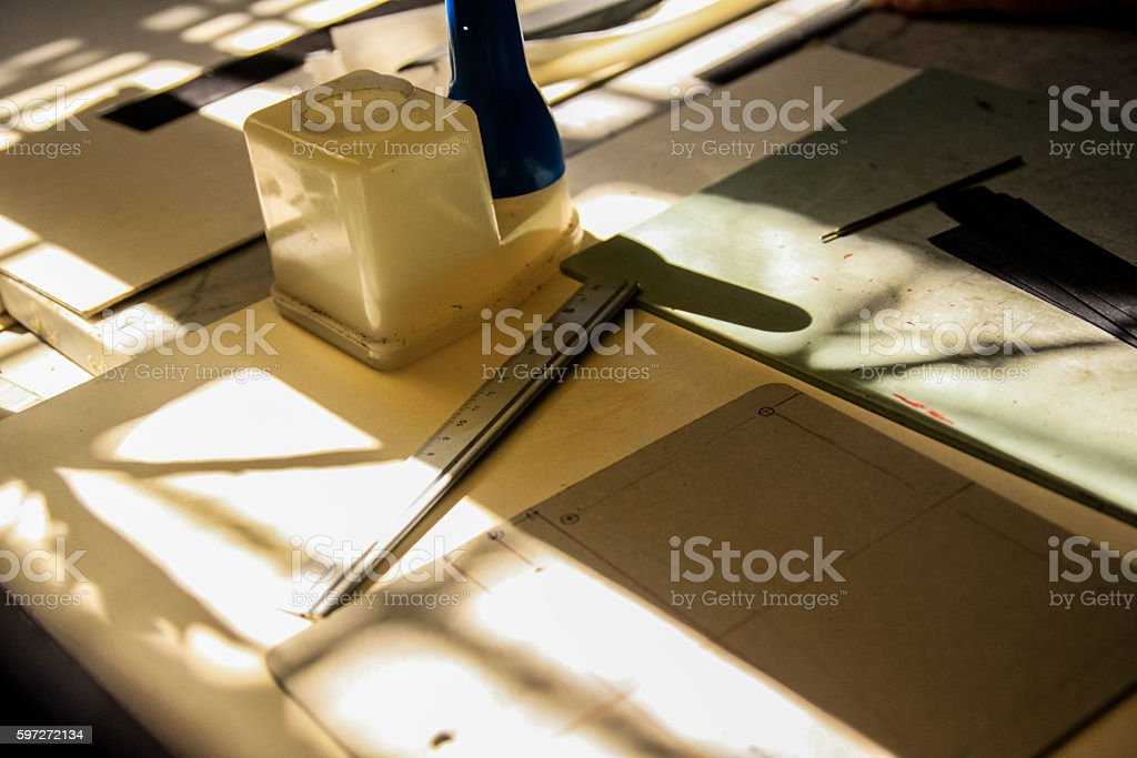 tools to work the leather royalty-free stock photo