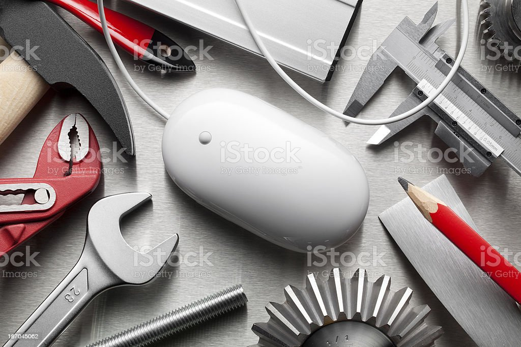 Tools with mouse royalty-free stock photo