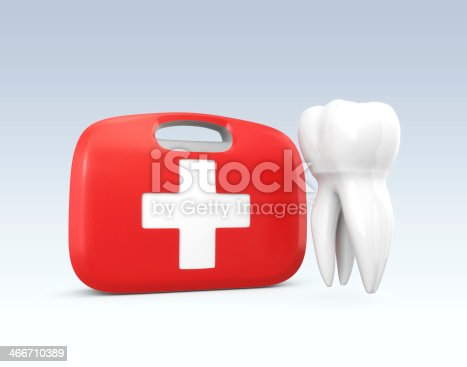 istock Tooth and first aid kit 466710389