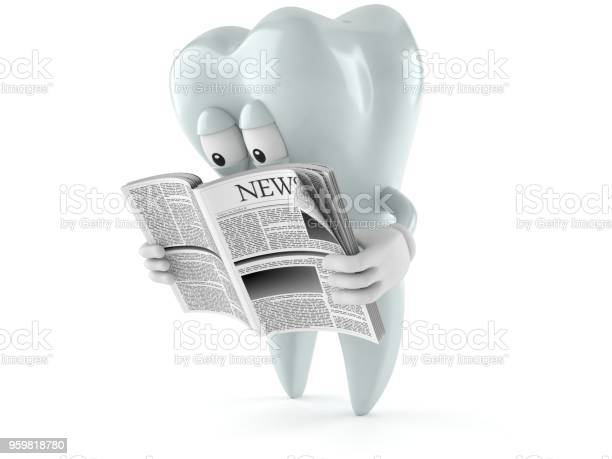 Tooth character reading newspaper picture id959818780?b=1&k=6&m=959818780&s=612x612&h=ohrwxshbm mwj4rcnee15wukikvaqaffor1hhivzp5i=