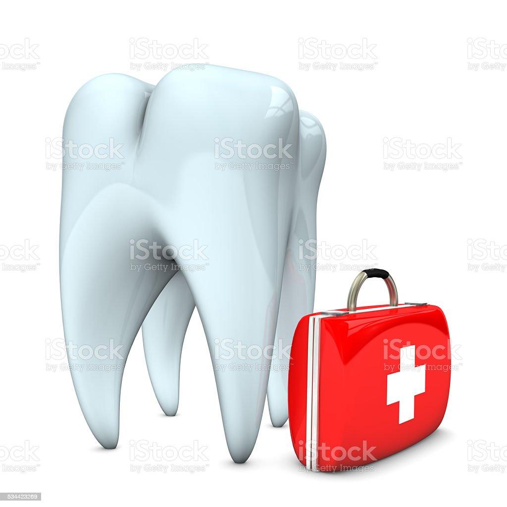 Zahn Notfall Fall Lizenzfreies stock-foto