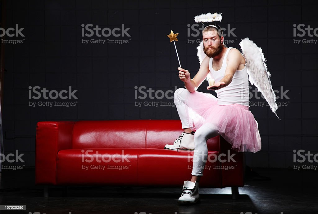 Tooth Fairy: with wand a molar stock photo