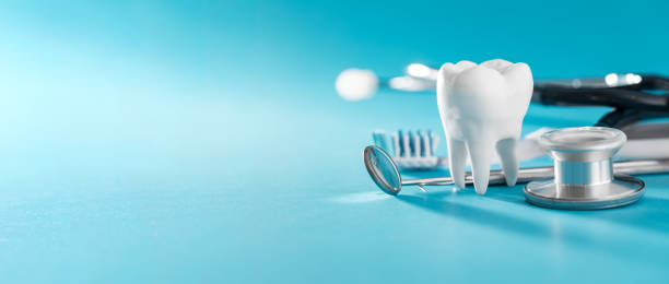 tooth, health, dentistry concept. - dentista foto e immagini stock