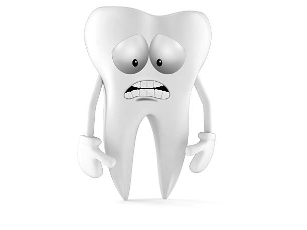 tooth - sad cartoon images stock photos and pictures