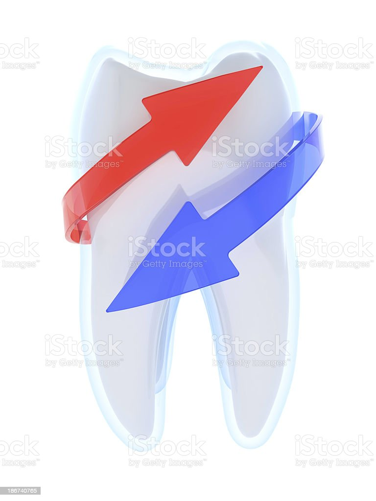 Tooth protection royalty-free stock photo