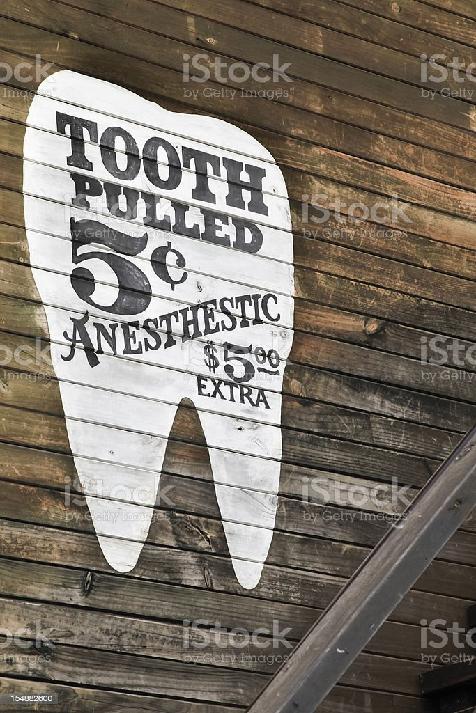 Tooth pulled stock photo