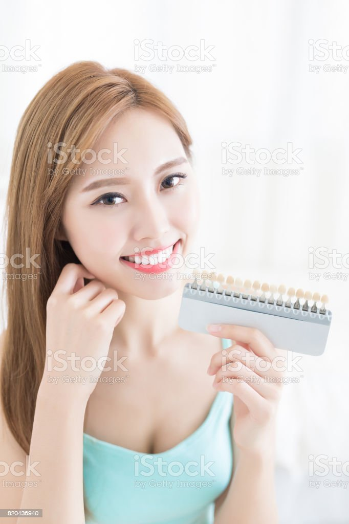 tooth whiten concept stock photo