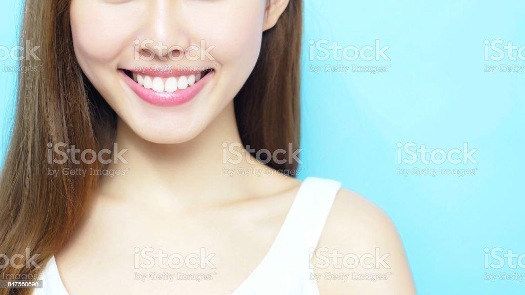 blanquear el diente concepto - foto de stock