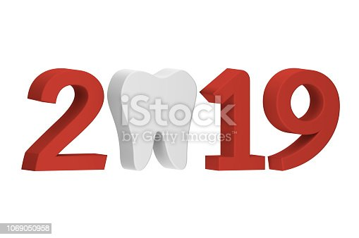 istock tooth with numbers isolated on white for Merry Christmas or Happy New Year 2019 1069050958