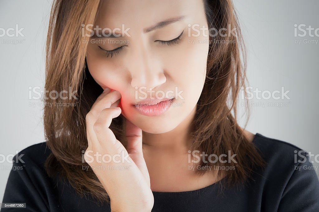 Toothache stock photo