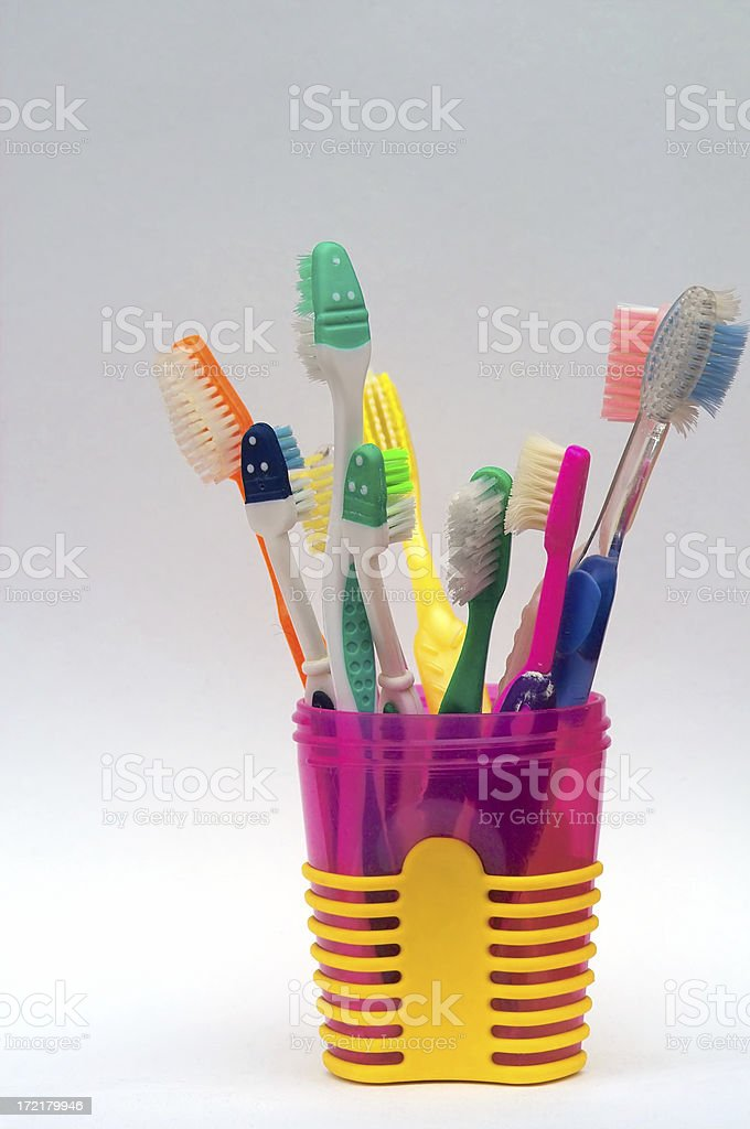 Toothbrush Cup royalty-free stock photo