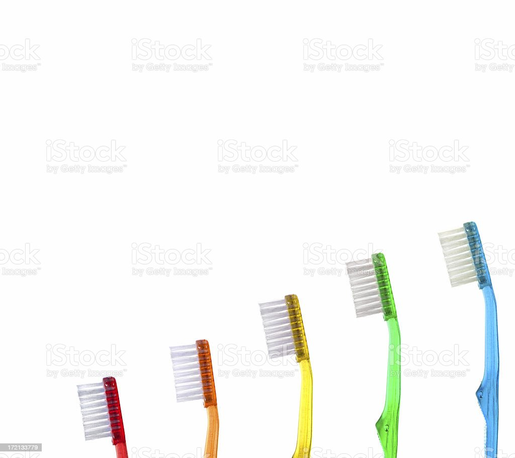 Toothbrush Evolution royalty-free stock photo
