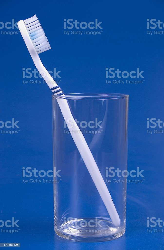 Toothbrush in glass royalty-free stock photo