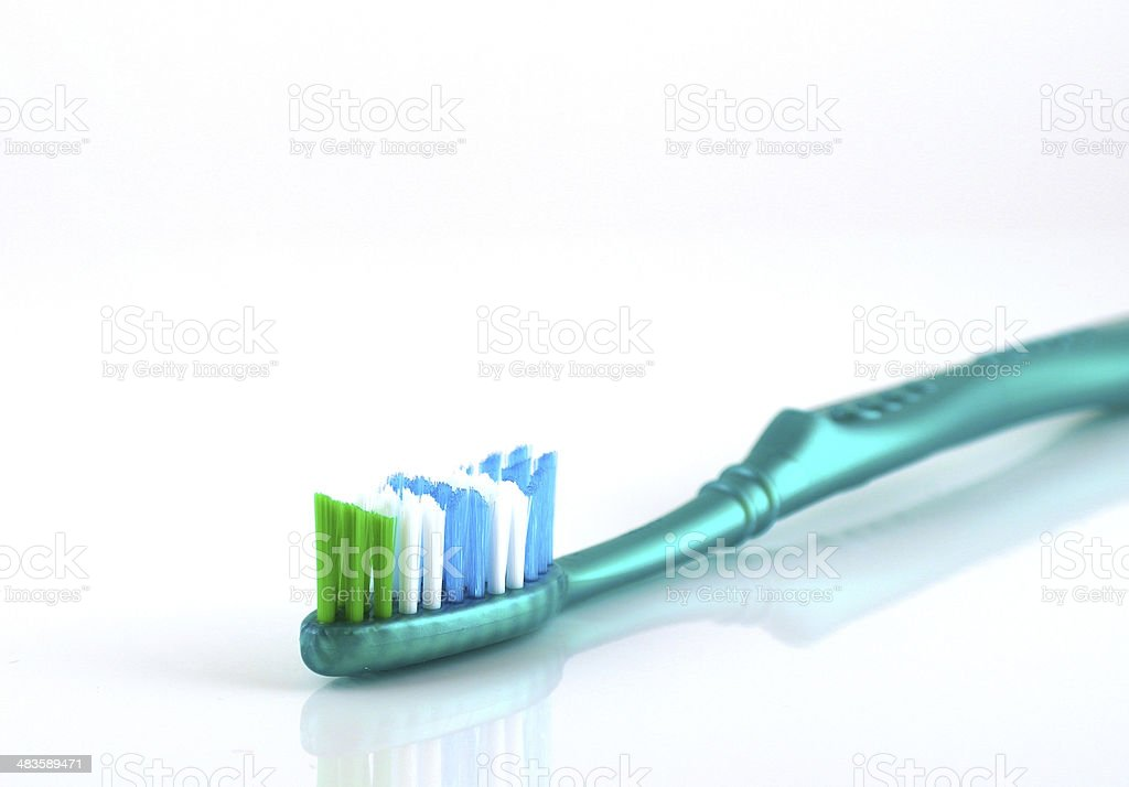 Tooth-brush over white royalty-free stock photo