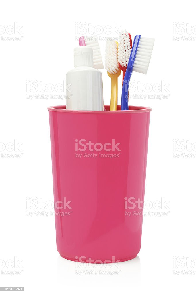 Toothbrushes and Toothpaste royalty-free stock photo