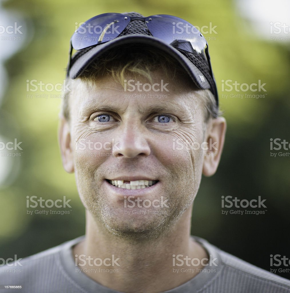 Toothless Male Adult stock photo