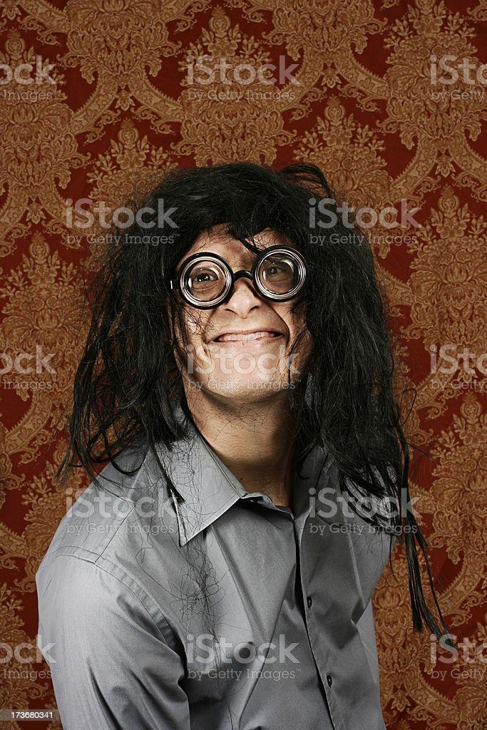 Toothless Nerd royalty-free stock photo