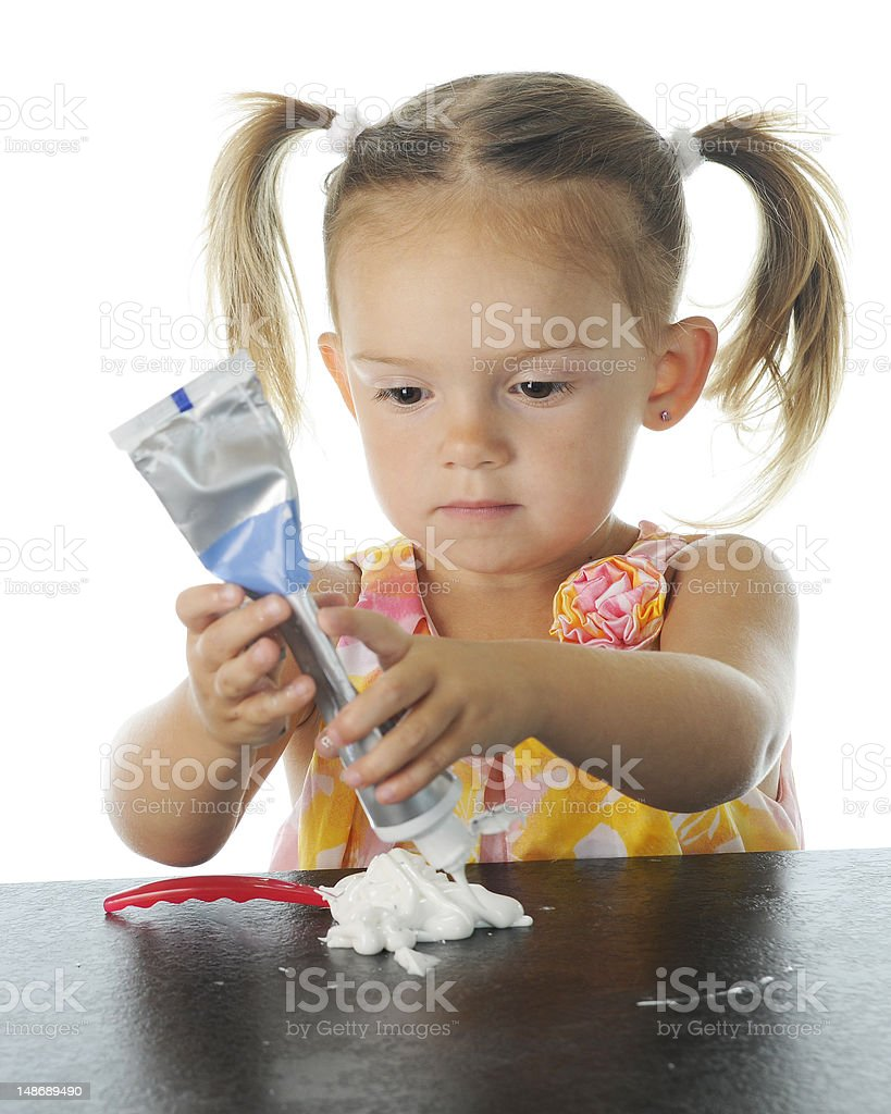 Toothpaste Concentration stock photo