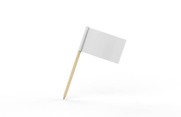 toothpick flag mockup - flag stock photos and pictures