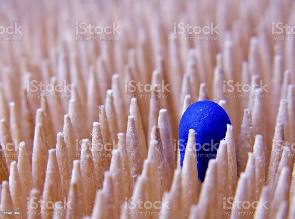 Toothpicks & Match royalty-free stock photo