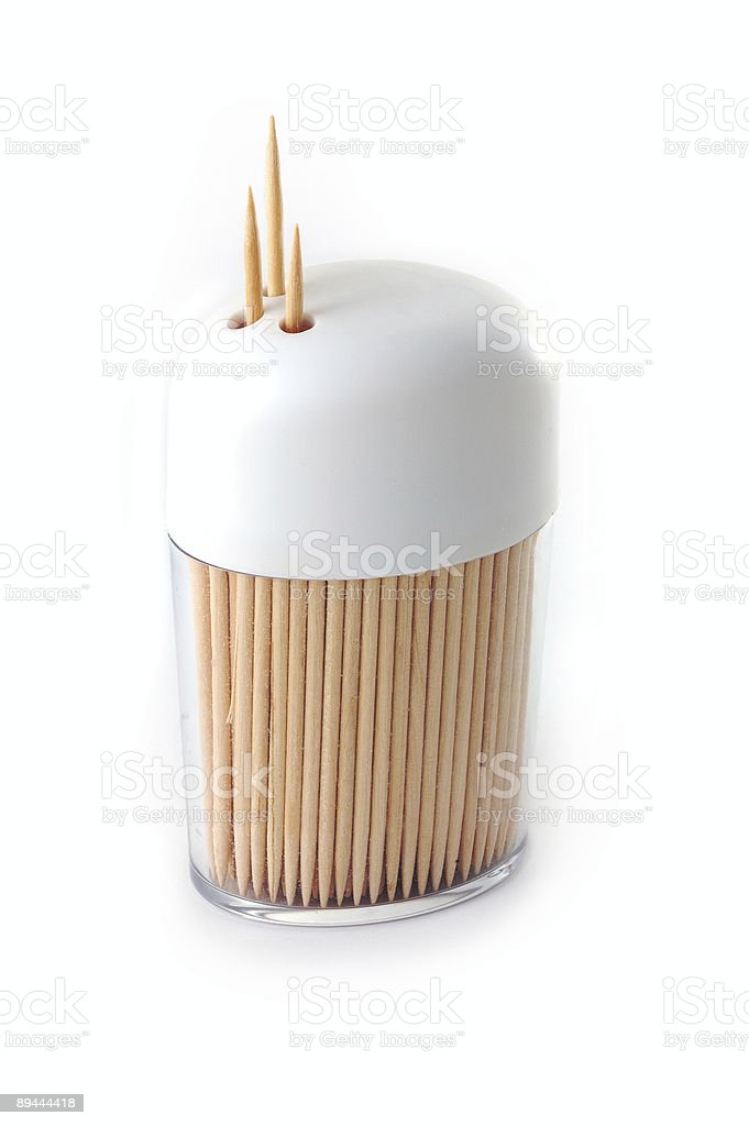 toothpicks ready in container royalty-free stock photo
