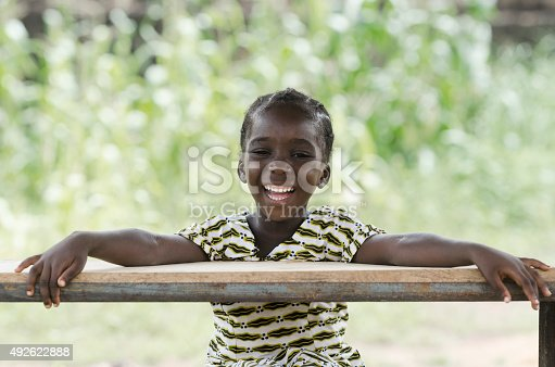 istock Toothy Smile on African Black Girl Laughing at School 492622888