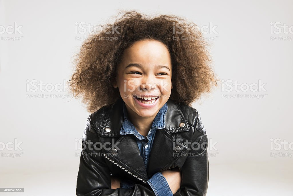 toothy smiling african child stock photo