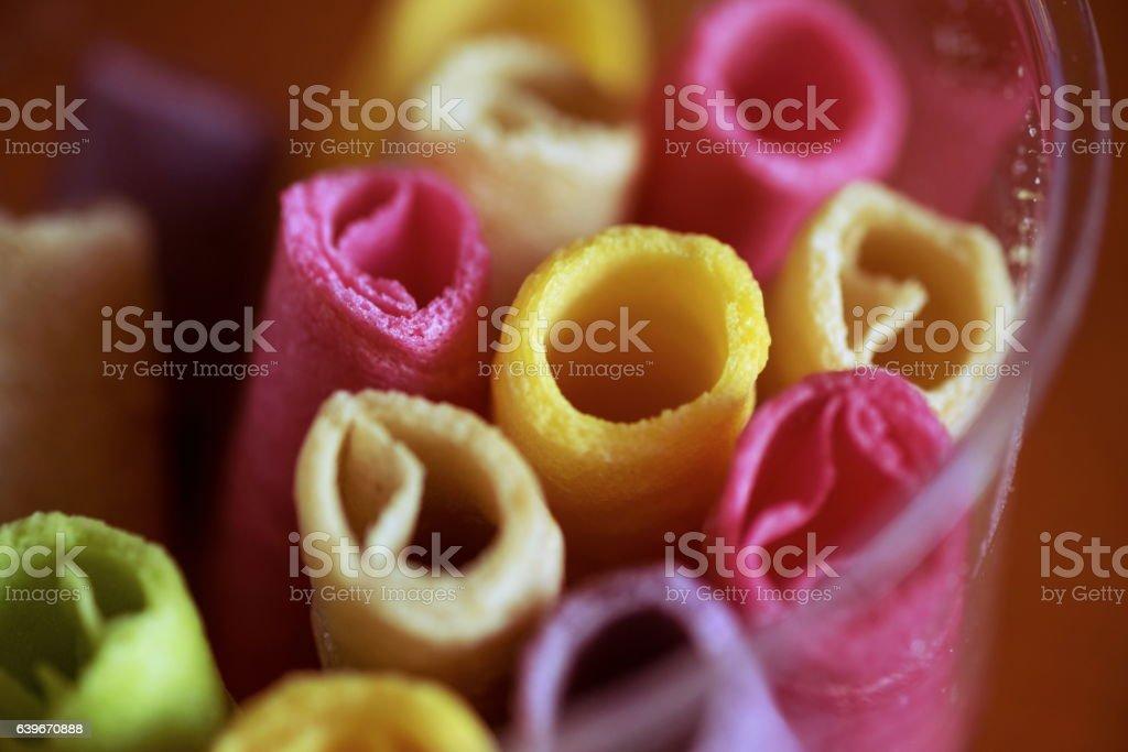 Tootsie Dessert colorful,snack colorfull stock photo
