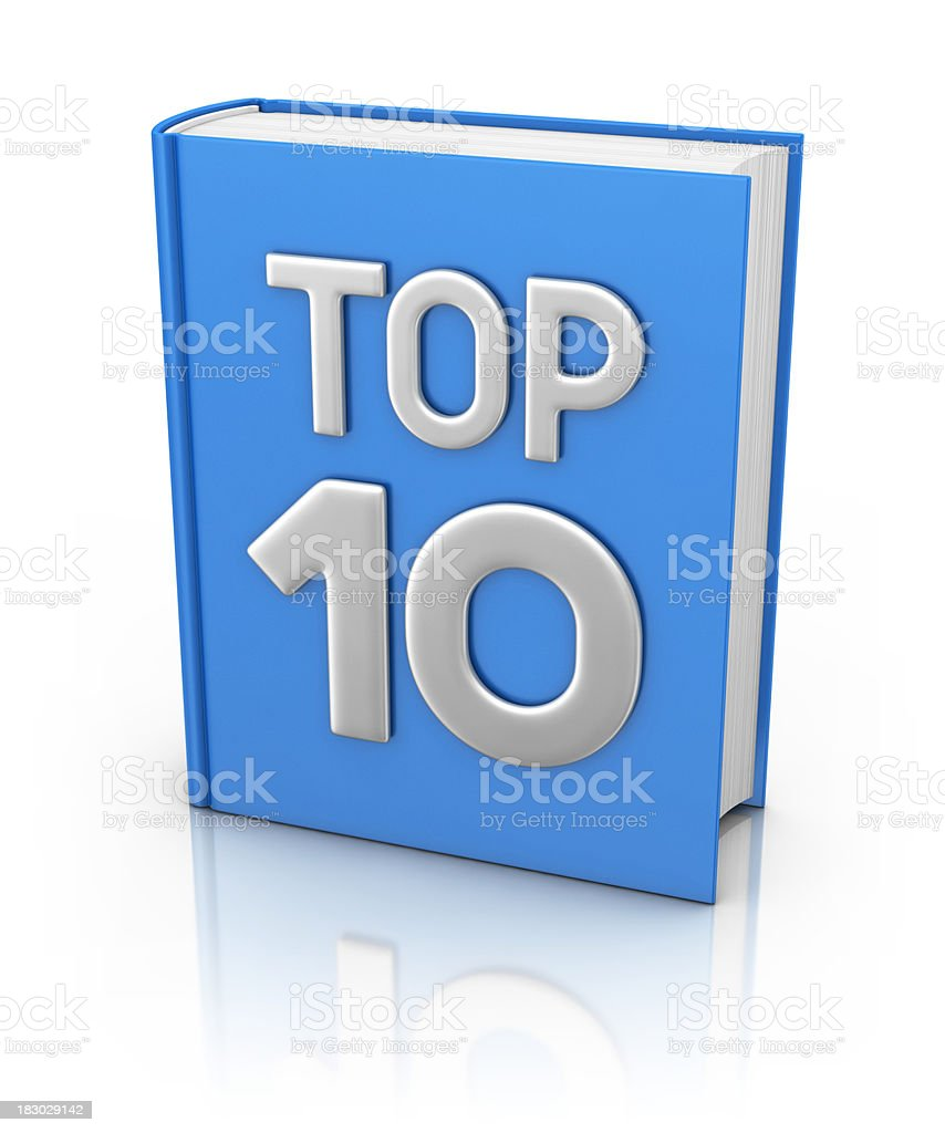 top 10 book royalty-free stock photo