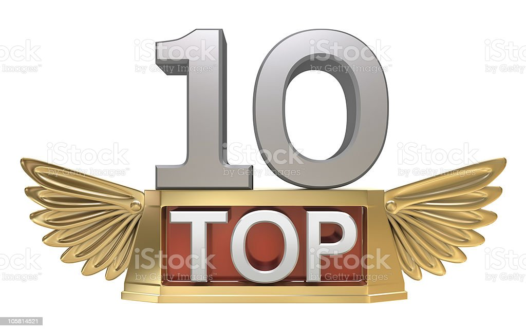 Top 10 , Golden trophy royalty-free stock photo