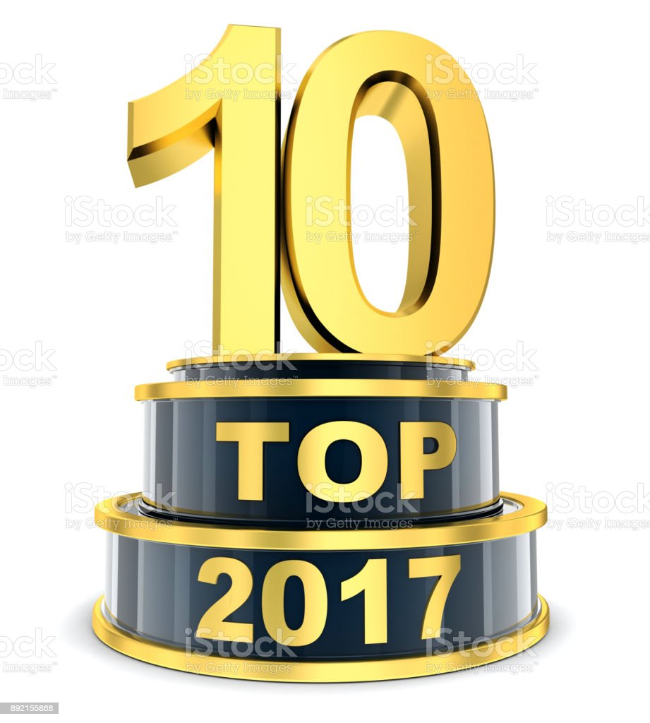 Top 10 of the year vector art illustration