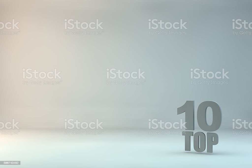 top 10 on background stock photo