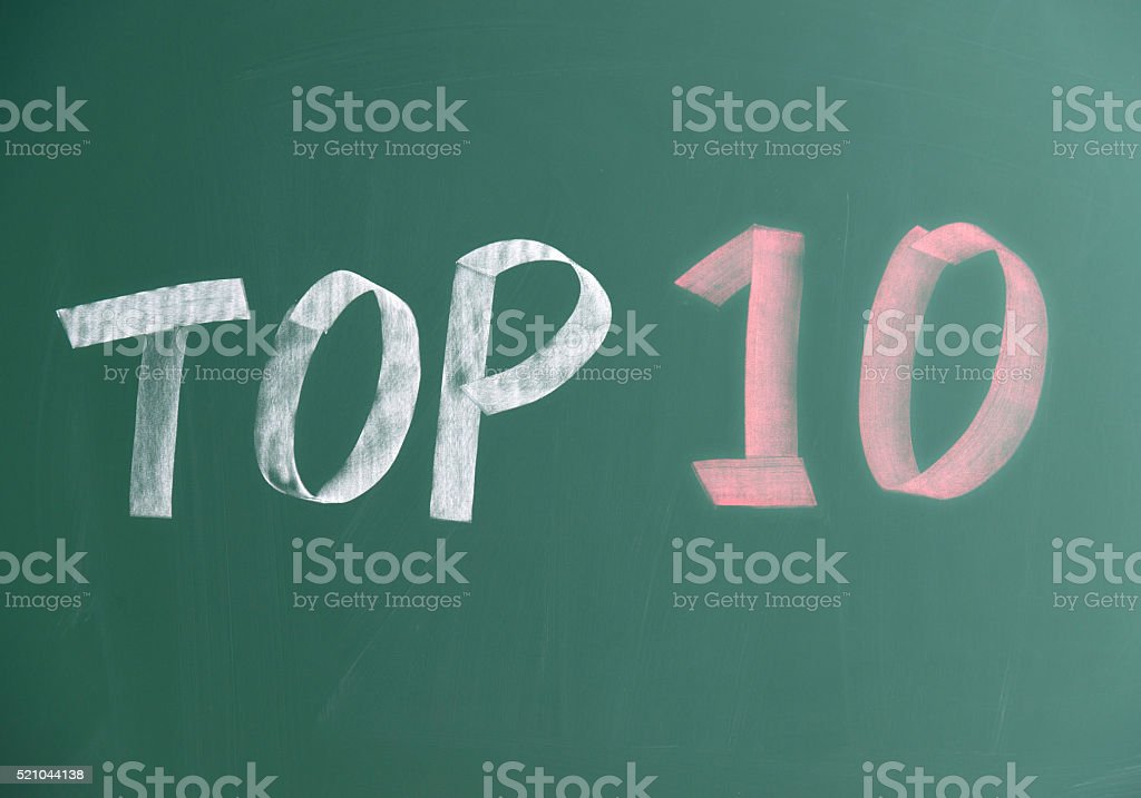 Top 10 - foto de acervo