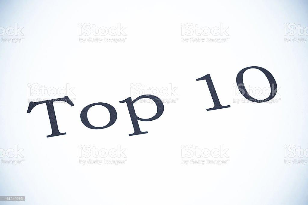 Top 10 - SeleniumTone stock photo