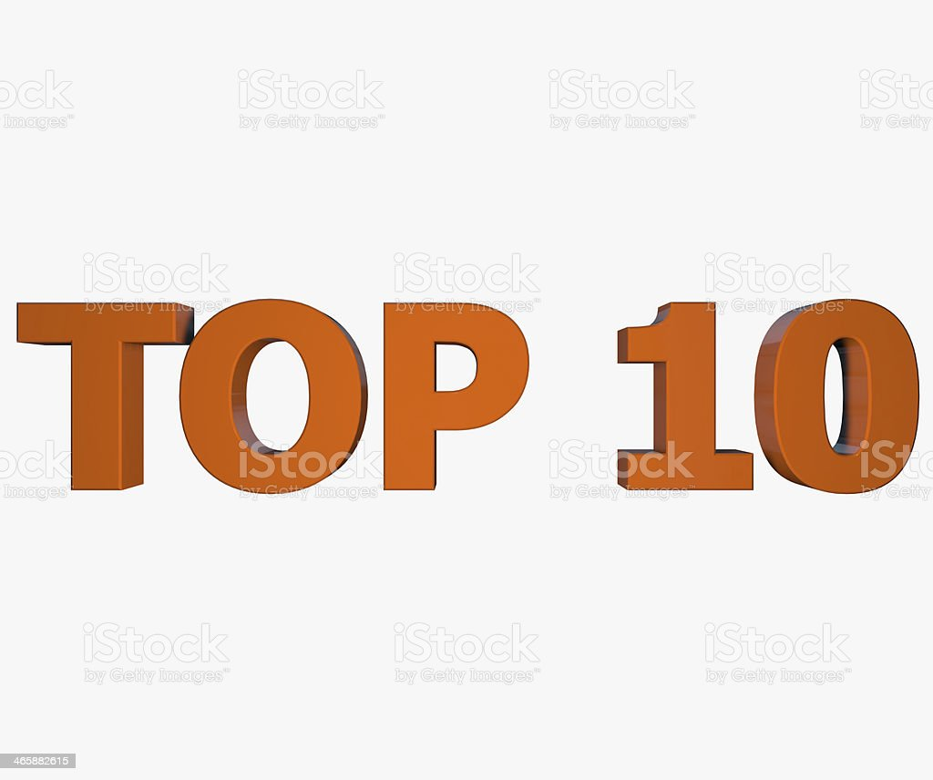 Top 10 text stock photo