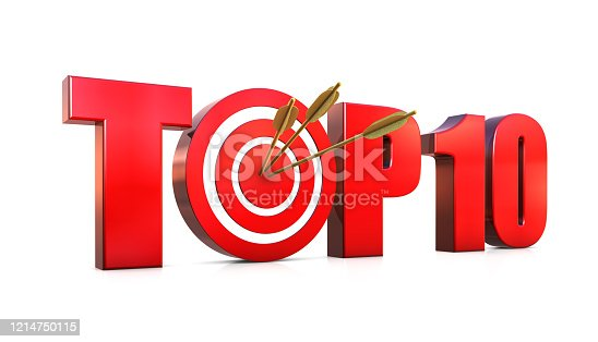 Top 10 Text Target with Arrows
