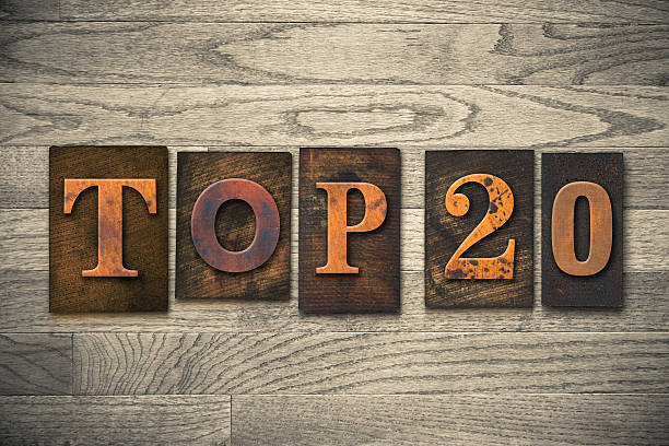 top 20 concept wooden letterpress type - number 20 stock photos and pictures