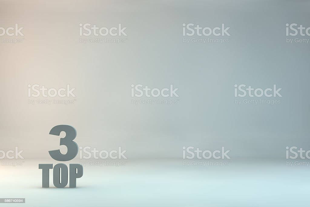 top 3 on background stock photo