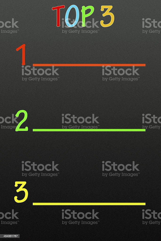 top 3 title royalty-free stock photo