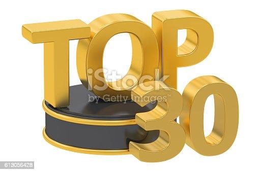 istock Top 30, 3D rendering 613056428