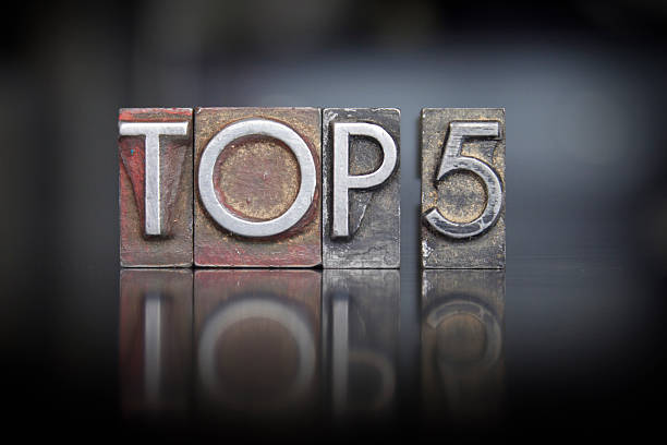 Top 5 Rilievografia - foto stock