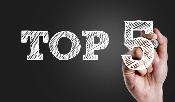 Top 5 Top 5 sign high section stock pictures, royalty-free photos & images