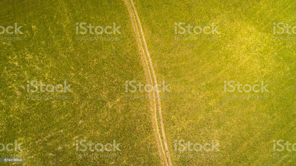 Top Aerial view of Cerknica Lake Slovenia stock photo