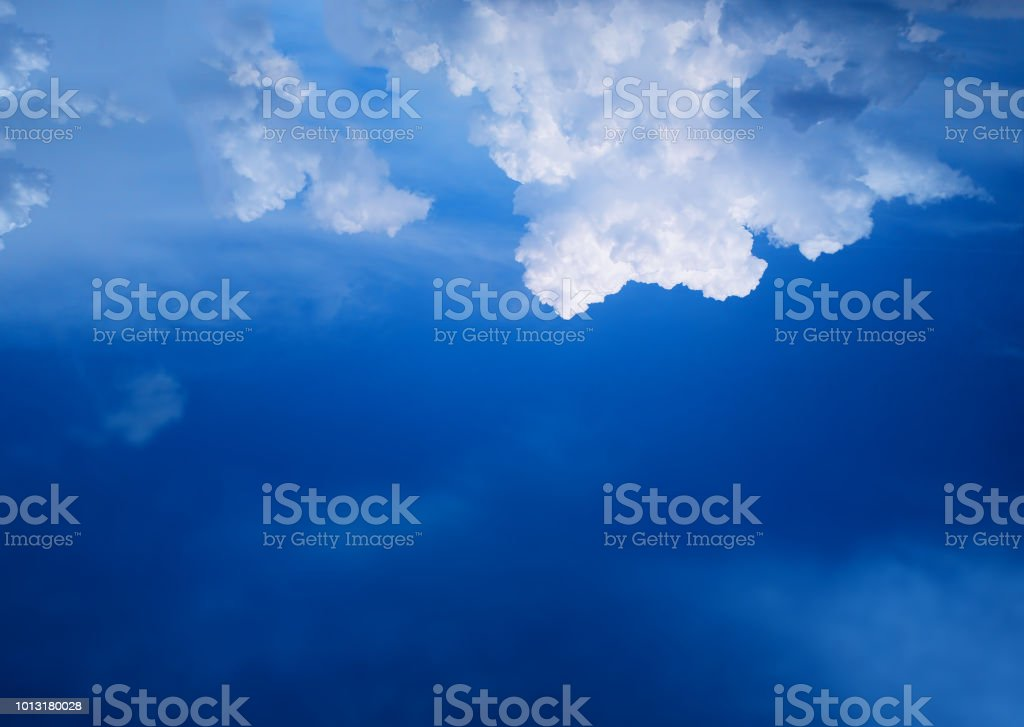 Top aligned cloudscape background stock photo