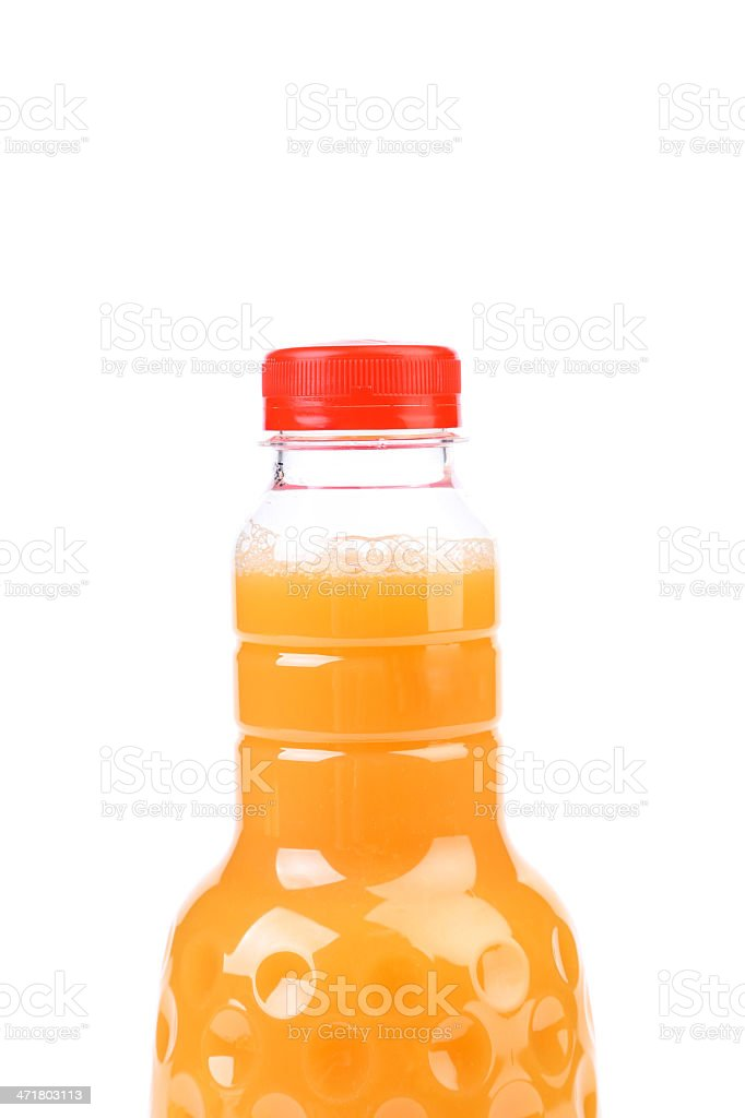 Top bottle of orange juice. royalty-free stock photo